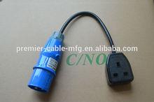 16 Amp Plug to 1 x 13 Amp Socket Adaptor Fly Lead 240v