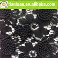 flores francês africano de nylon grosso de guipure de polimento algodão laço de tule tecido