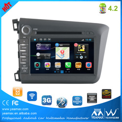 "8"" 2din android auto car dvd player/WIFI/3G/iPod/car audio/Steering wheel control"