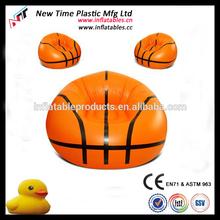 2014 comfortable inflatable basketball bean bag chair/sofa