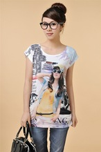 New Collection Fashion Design Beautiful Young Girl Custom Design T-shirt/Latest Arrival Summer Promotional Tee Shirt Clothing