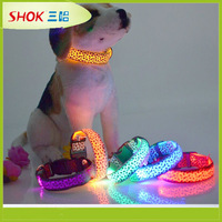 CE hot led dog collar pet collar best led dog collar and leash