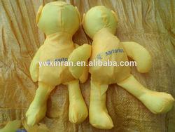 yellow bear shape fold shopping bag wholesales