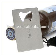 bottle opener business card/credit card bottle opener/custom logo engraved bottle opener
