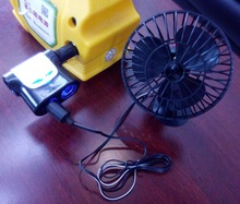 "12 / 24V 6 "" dashboard fan car with strong suction cup"