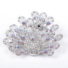 2014 Most fashionable Bulk Flower crystal Rhinestone brooch for wedding invitations