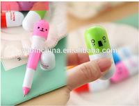 Cute Pill Stretchy Ball Pen/Capsule Retractable Pen/Cartoon Pen