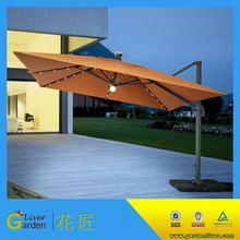 patio waterproof parasol led light solar outdoor sun garden umbrella