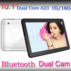 10.1 inch Android 4.2 HD Capacitive tablet pc Allwinner A23 Dual-Core cheap tablet pc,dual camera with External 3G+wifi+BT
