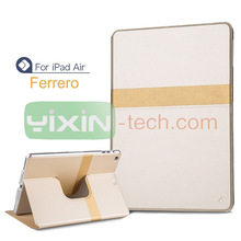 New Design Rotatable Case for iPad Air leather case