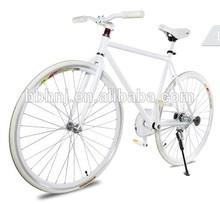 Fashion women white fixed gear bike / road bike