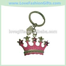 Las Vegas Pink Princess Crown Keyring