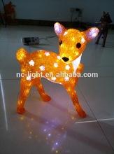 3D acrylic deer motif LED christmas light