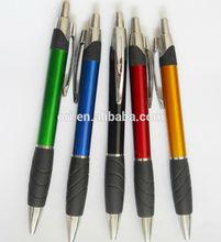 rubber grip click function ball pen,high quality cheap promotioal pen