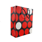 red printing luxury paper shopping bag