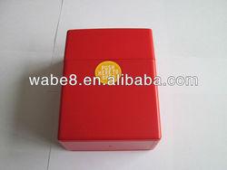 latest design red plastic flip top cigarette case