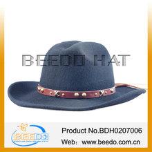 2014 100% wool flat felt men hats cowboy hard hat big brim mens hats