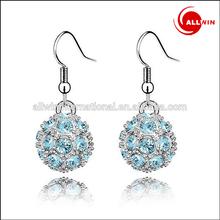 hot sale rhinestone earring jewelry alloy