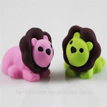 animal shape eraser set school 3d eraser manufacture