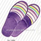 Custom color cheap close toe chinese velvet hotel slipper