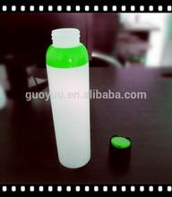 Diseñador de botella cosmética con tapa de disco superior/300ml botellas decorativas para detergente líquido