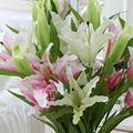 Yiwu 2014 aimee material de decoração de páscoa artificial flor de lírio,, artificial flor de lírio azul, preço de lírios e flores de corte( sou- ly07)