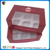 2014 fancy container boxes for cupcakes sale
