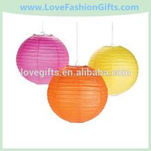 Pink, Orange & Yellow Hanging Lanterns