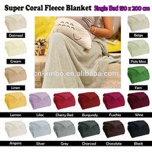 18 Colors Choice - Machine Washable Super Soft Coral Fleece Blanket
