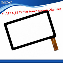 """7"""" inch Android tablet A13, Q8, Q88 Touch Screen digitizer with camera hole"""