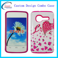 Customized design Combo Case For Alcatel One Touch T pop OT4010