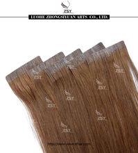 2014 ZSY hot!!! 5a grade fusion tape virgin hair extension