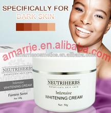 Factory Price skin whitening cream no hydroquinone