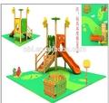 2014 exclusivo das crianças de madeira ao ar livre equipamentos de playground