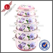Wholesale Russian Enamel Pots Cooking Pot Set Casserole Pots