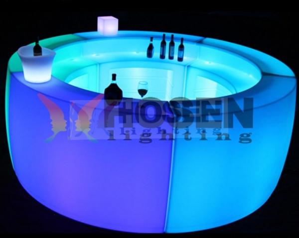 LED Illuminated Led Round Bar Counter Stool Design View Hosen