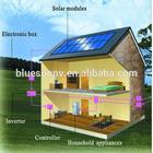 Bluesun cheap design good benefits 5kw grid tie solar shower stand