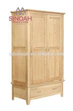 301 hot-selling solid oak wood 1 drawer wardrobe