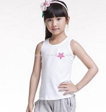 Fashion Children Girl Printed Sleeveless Tshirts Wholesale