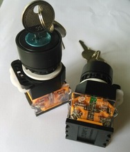 KEY PUSH BUTTON SWITCH,LAY50-22B-01Y,LAY50-22B-10Y,TWO POSITION AND THREE POSITION