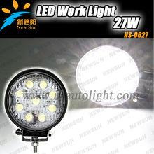 4.3inch 27W Spot beam light led work light UTV, ATV, Jeep, tractor, trailer truck led driving lamp 12v/24v with CE ROHS IP68