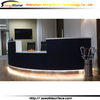 STBC-393 black matt LED lighting design artificial marble solid surface basement bar