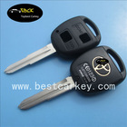 Topbest 2 buttons smart key shell for toyota key cover with TOY41 blade
