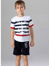 oem kids t shirt boys fashion striped t shirt from china