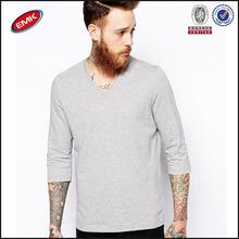 cheap wholesale bulk plain men's half sleeve t shirt with v-neck
