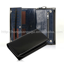 2014 best quality leather mens wallet with coin pocket