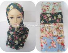 modest royal classic chiffon pashmina Printed Floral Women scarf Shawl Wrap