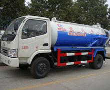 Dongfeng 4 x 2 right hand drive vácuo caminhão de sucção de esgoto 5 ton