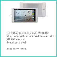 7 inch 3g wifi dual sim mtk mobile phone