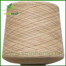 Manufacture colored silk and hemp interwoven yarns